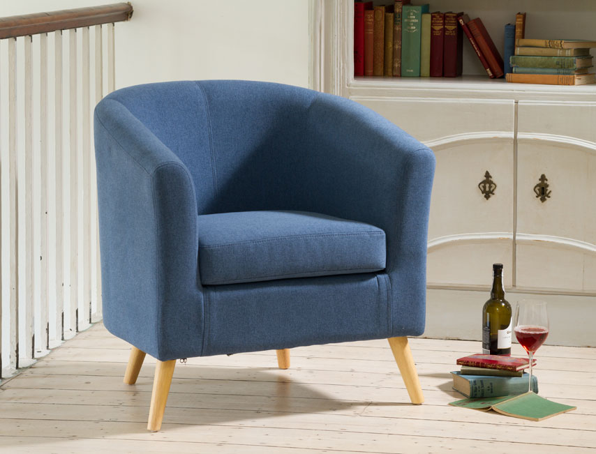 Dover tub chair blue