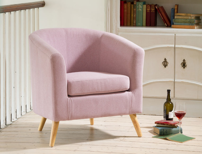 Dover Tub Chair – Pastel Lilac