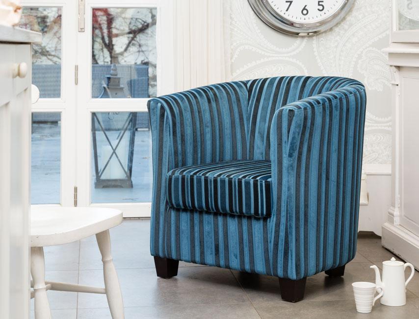 Genial Launceston Tub Chair Blue