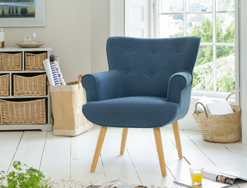 Manton tub chair blue