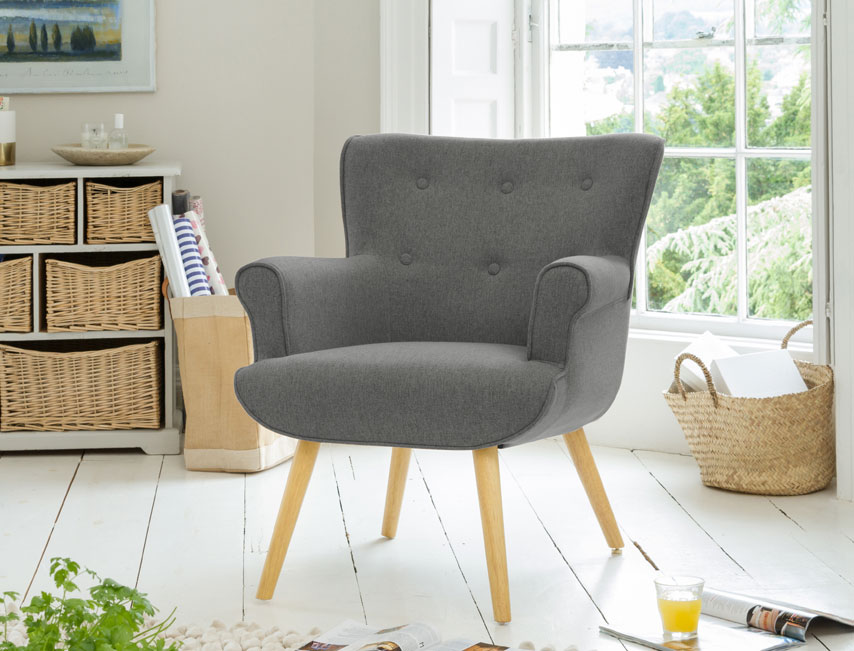 Manton tub chair grey