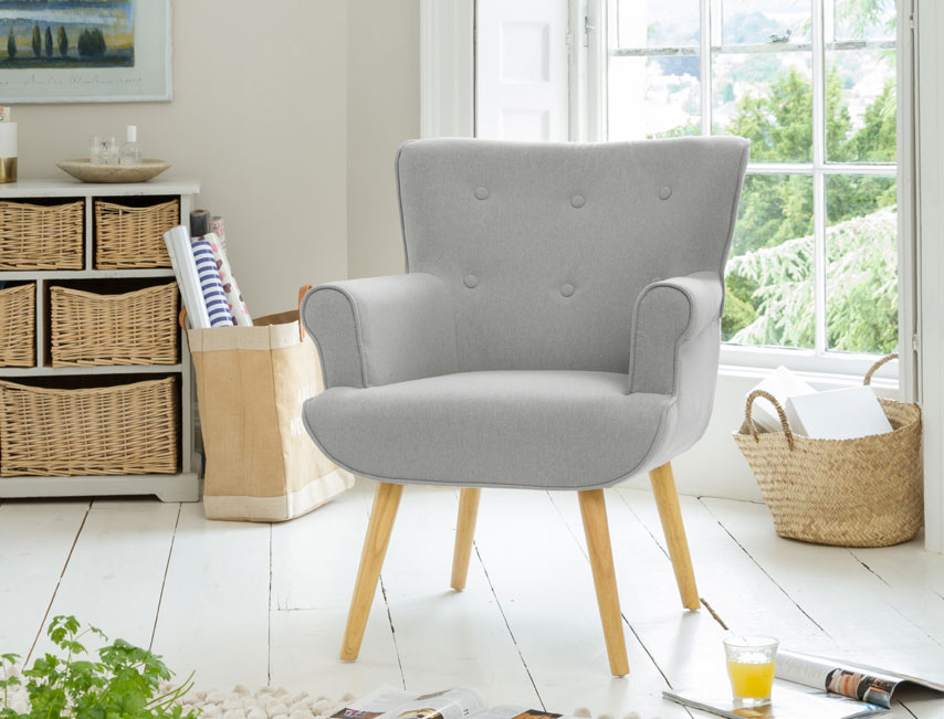 Manton tub chair light grey