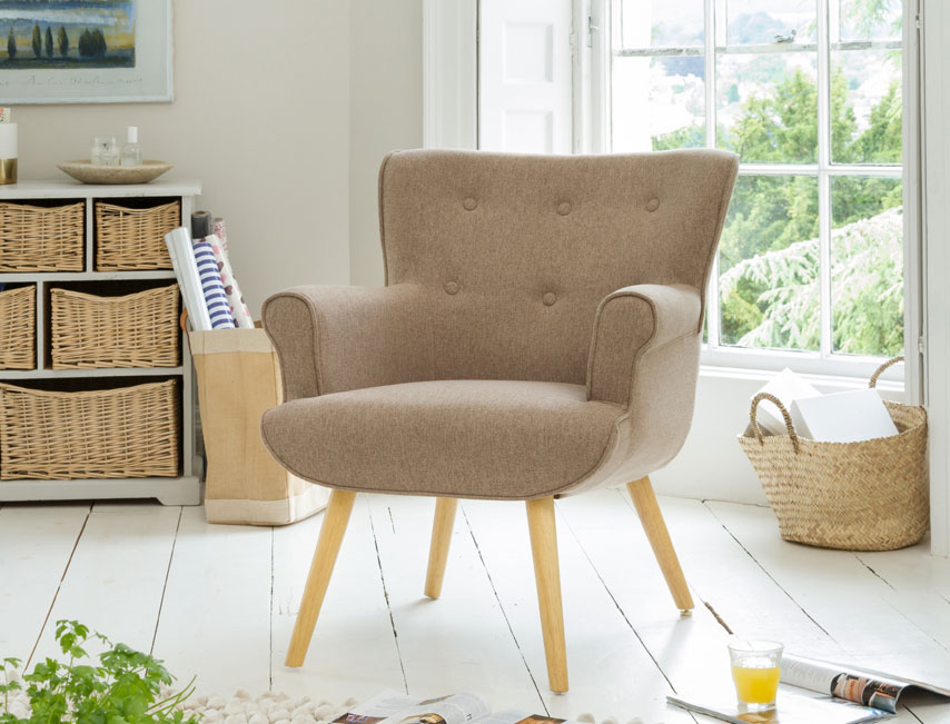 Manton tub chair mixed brown