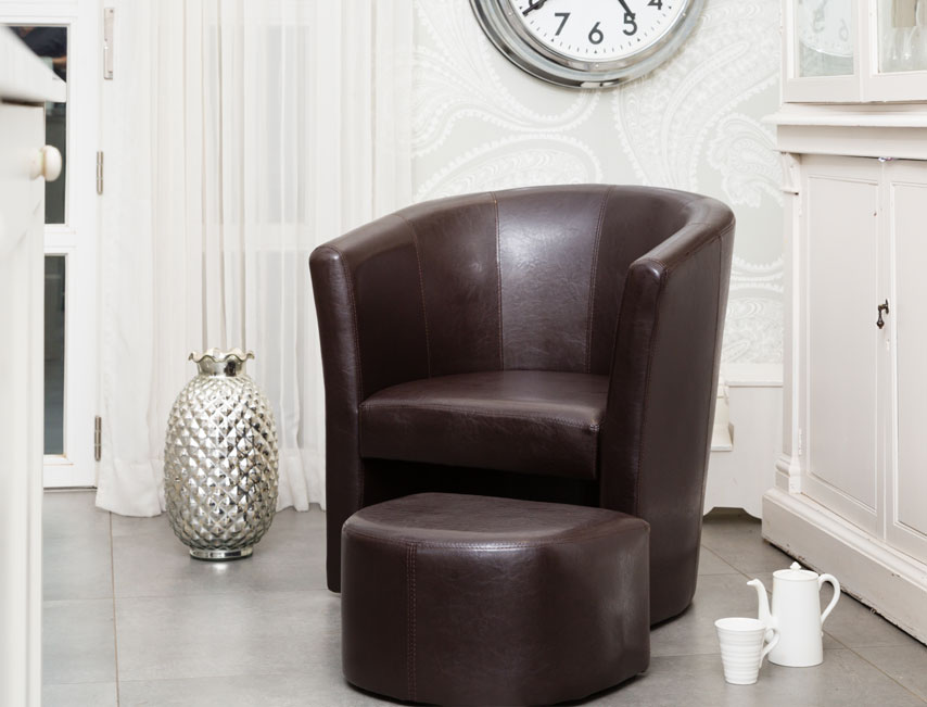 Stanford tub chair brown