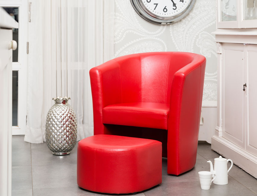 Stanford tub chair red