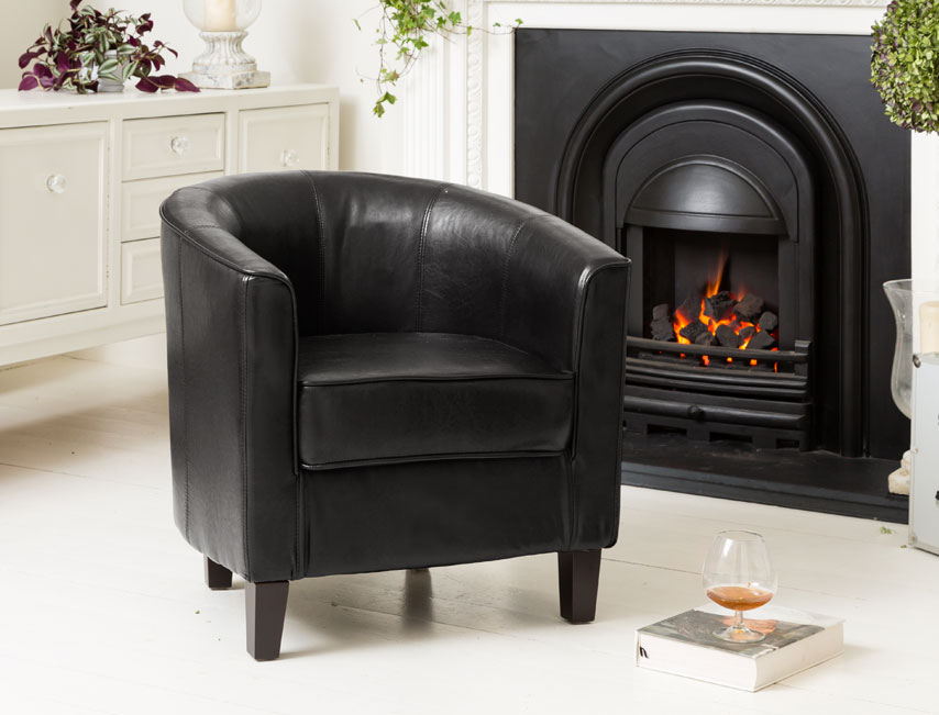 York tub chair black