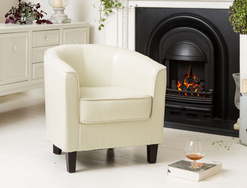 York tub chair ivory