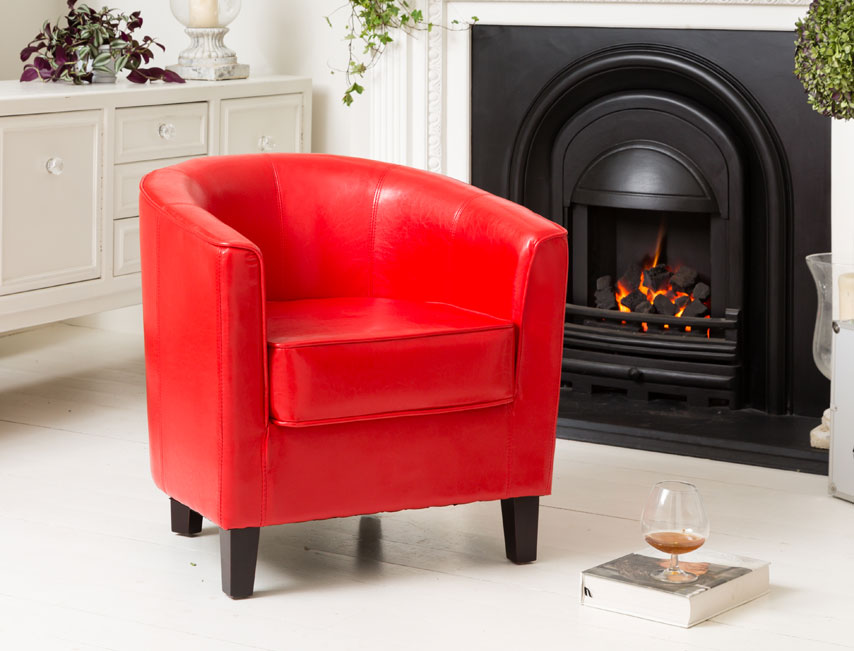 York tub chair red