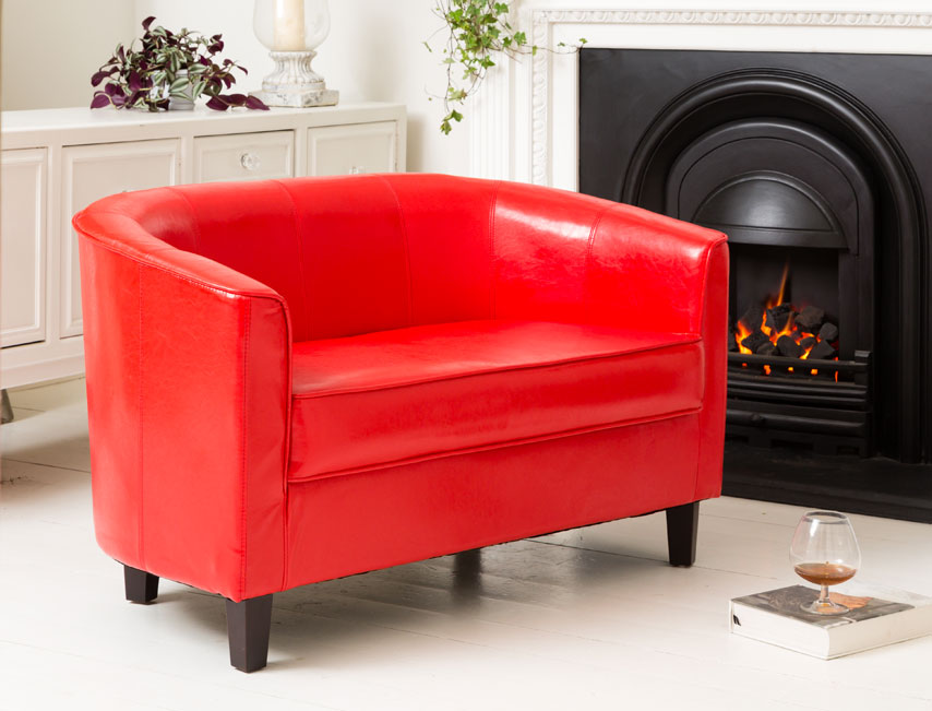 York 2 seat sofa red