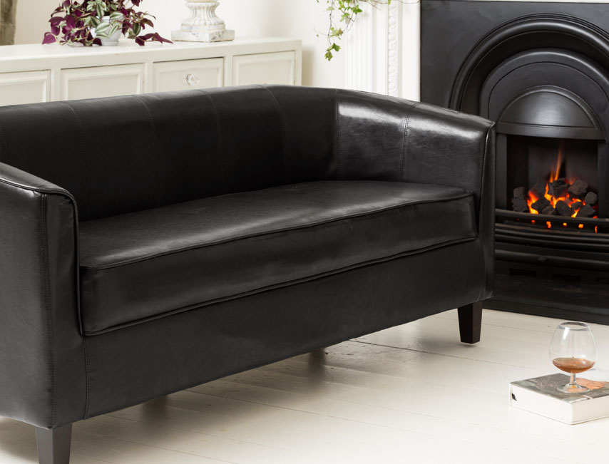 York 3 seat sofa black